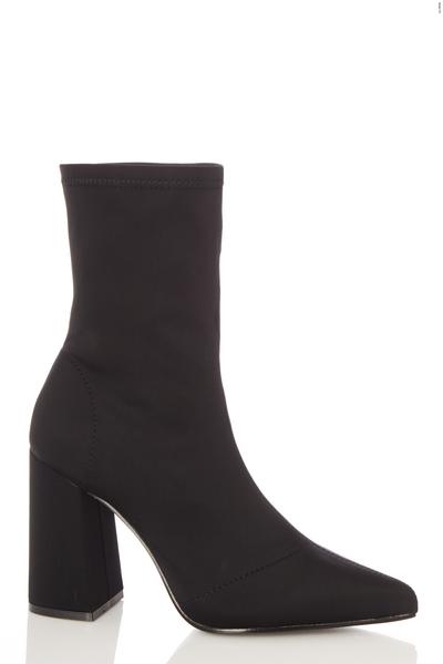 Wide Fit Black Sock Boot